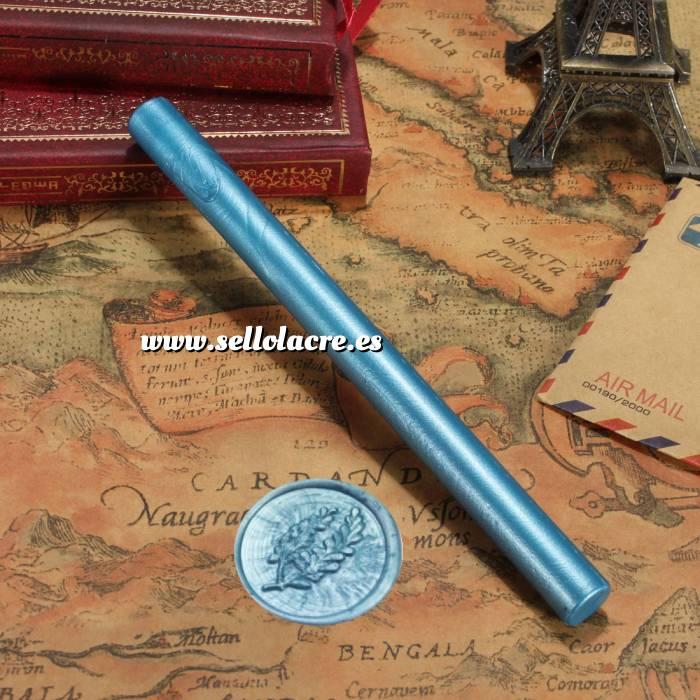 Imagen Barras para PISTOLA Barra Lacre 10mm Flexible pistola AZUL CAPRI Brillante