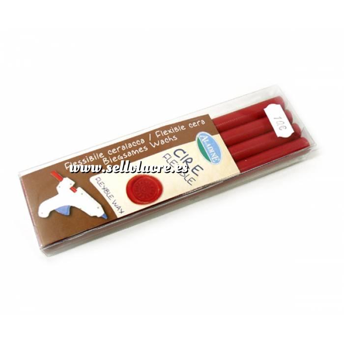 Imagen Barras para PISTOLA Barra Lacre 11mm tipo Silicona Rojo PACK DE 4 para Pistola