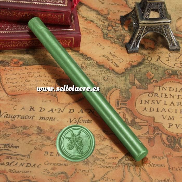 Imagen Barras para pistola Barra Lacre 10mm Flexible pistola Verde Pino Brillante
