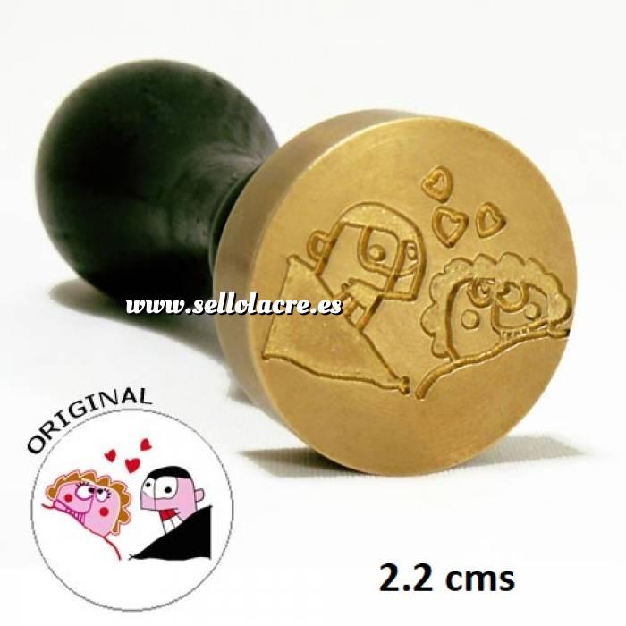 Imagen Con NUESTRO diseño Sello Lacre 2.2 cms. Personalizado con TU diseño