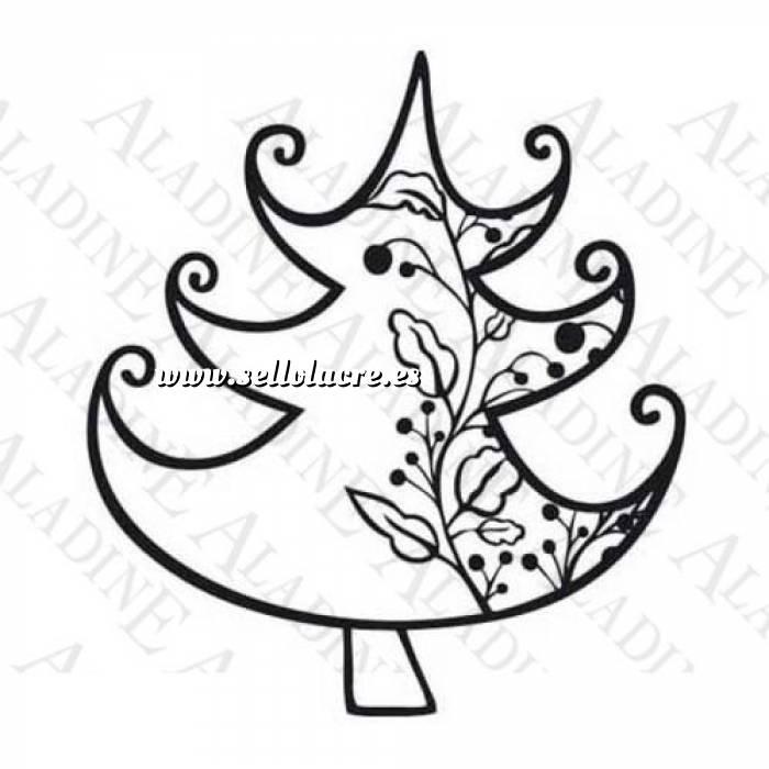 Imagen Diseños inmediatos Sello de Caucho - Árbol con guirnalda (01351) (Últimas Unidades)