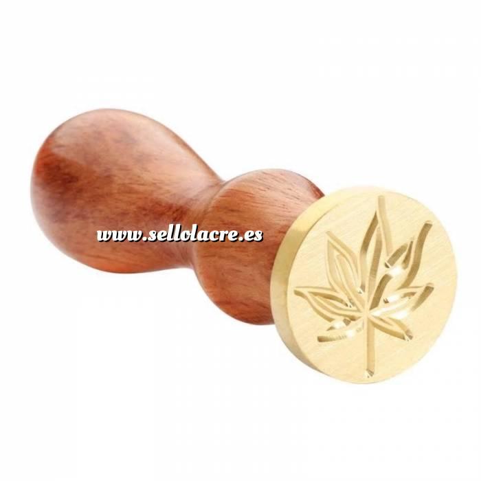 Imagen Diseños inmediatos Sello lacre mango largo - HOJAS MOD7 - Marihuana (Últimas Unidades)