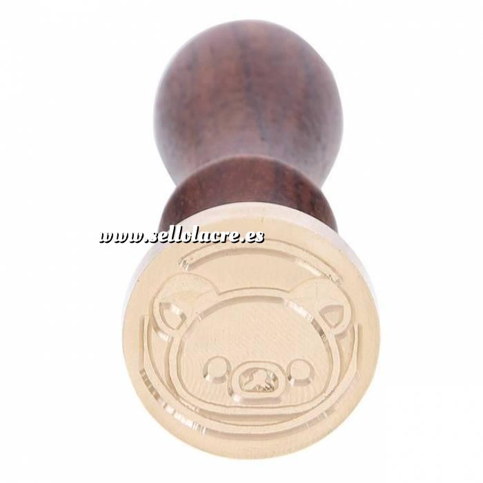 Imagen Diseños inmediatos Sello lacre mango largo - INFANTIL - Cerdito (Últimas Unidades)