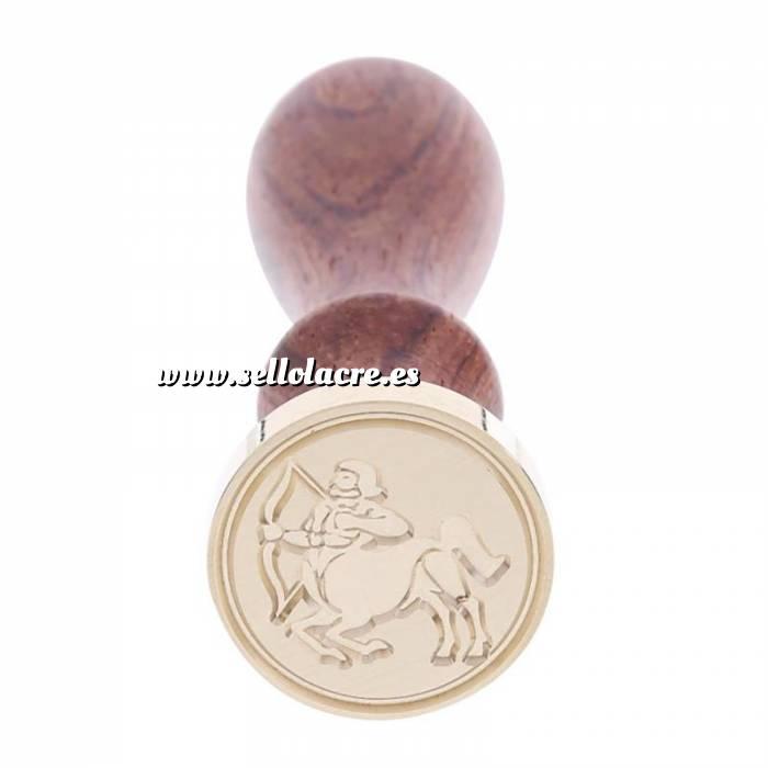 Imagen Diseños inmediatos Sello lacre mango largo - SIGNOS DEL ZODIACO 2 - Sagitario 2 (Últimas Unidades)