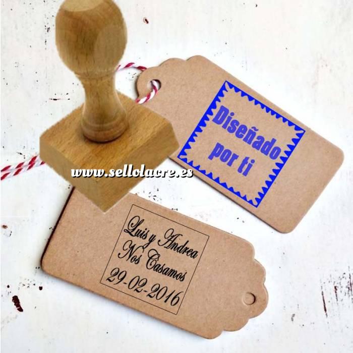 Imagen Sello CUADRADO Sello de Caucho CUADRADO 4x4 cm - Personalizado con tu diseño