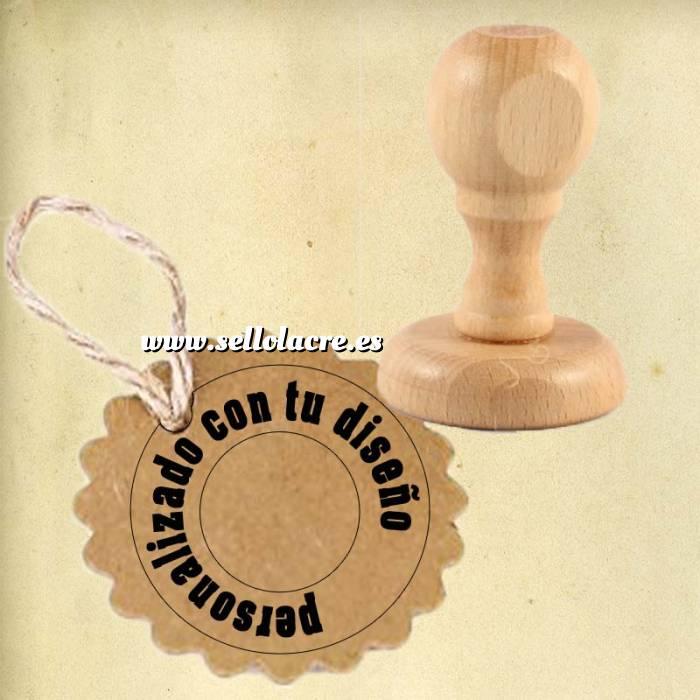 Imagen Sello REDONDO Sello de Caucho REDONDO 4 cm diametro - Personalizado con tu diseño