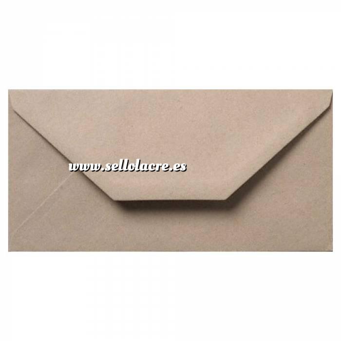 Imagen Sobre Americano DL 110x220 Sobre Marrón Kraft textura Reciclado DL