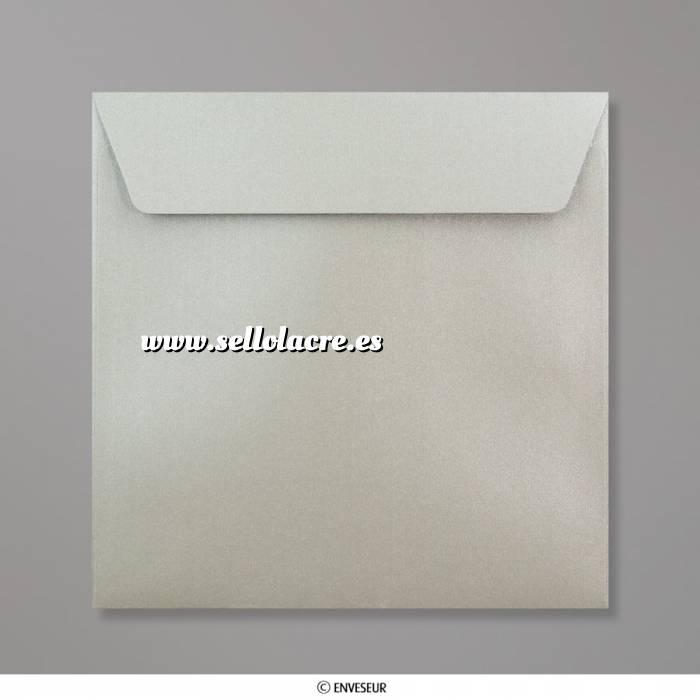 Imagen Sobres Cuadrados Sobre Perlado Plata Cuadrado