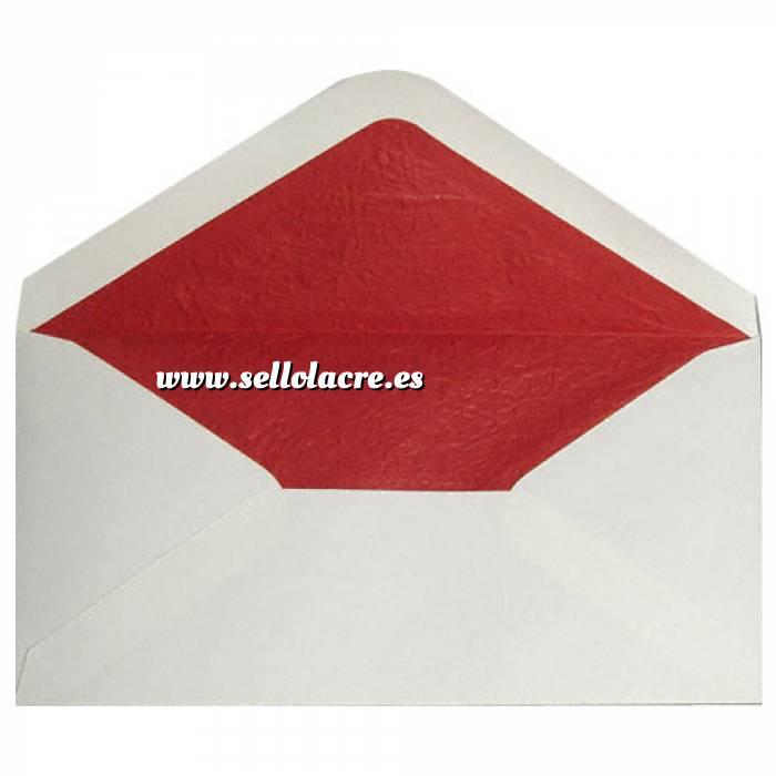Imagen Sobres Forrados Sobre Beige DL forro fantasía rojo (Últimas Unidades)