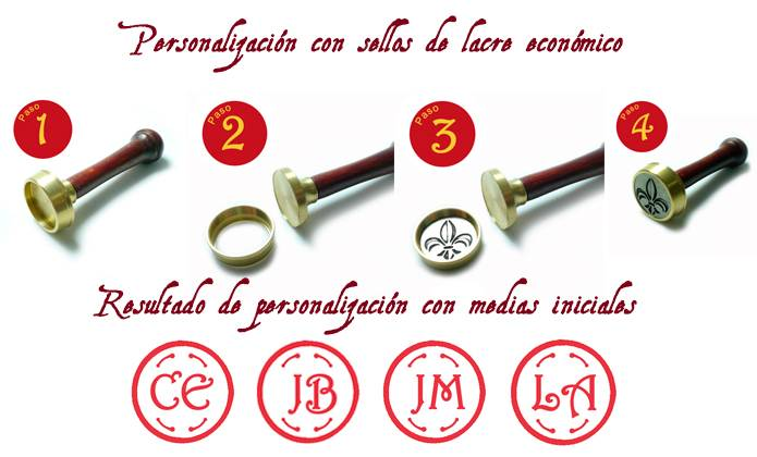 Sello Lacre personalizado para invitaciones de boda - Personalizado económico