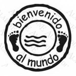 Bautizo - SELLO CAUCHO BIENVENIDO AL MUNDO (Descatalogado) (ultima ud) (Últimas Unidades)