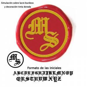 Con TU diseño - Sello Lacre 2.5 cms. Iniciales medievales