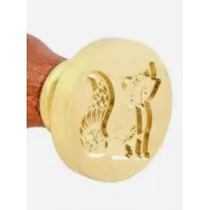 Imagen Diseños inmediatos Sello lacre mango largo - ANIMALES - Ardilla (Últimas Unidades