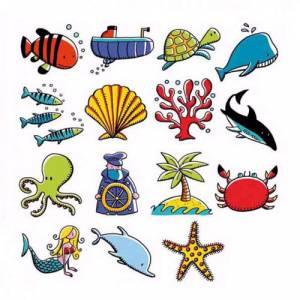 Imagen Kits 15 sellos KIT 15 SELLOS MAR (Últimas Unidades)