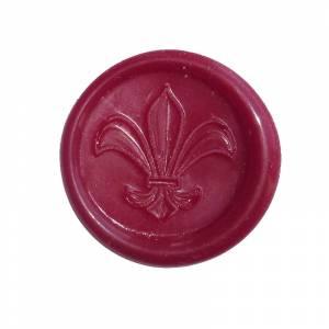 Lacres adhesivos - Sellos de lacre Adhesivos - Flor de Lys en rojo (�ltimas Unidades)
